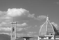Basilica di Santa Maria del Fiore (the monk) Tags: bw italy delete10 clouds delete9 delete5 delete2 florence delete6 delete7 basilica delete8 delete3 delete delete4 save save2 belltower dome santamaria duomo brunelleschi