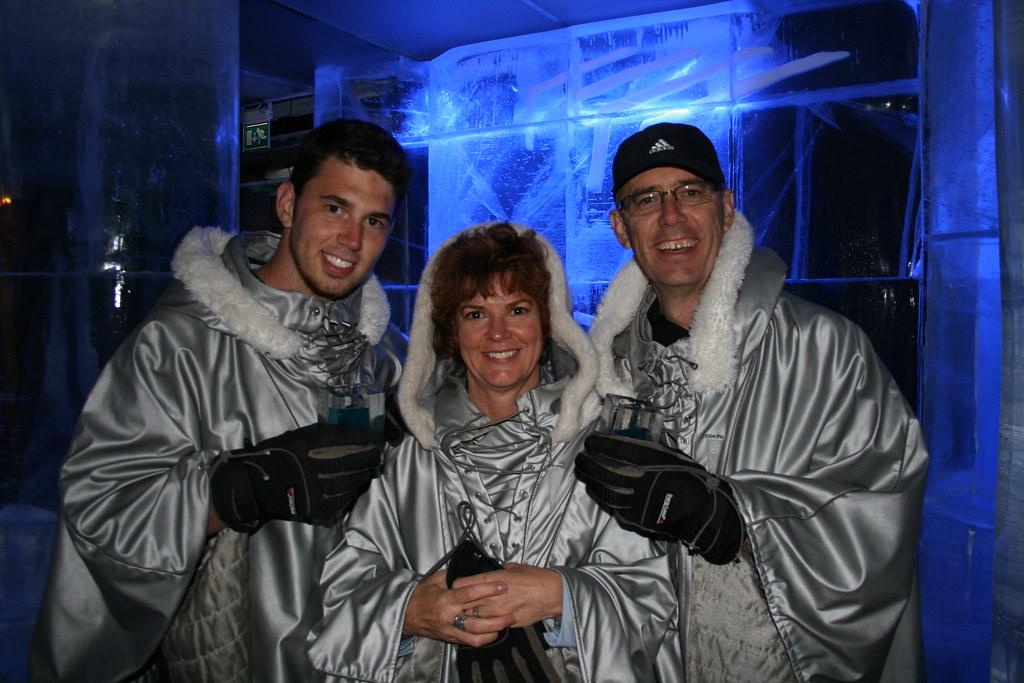 Three Ice Bar Patrons