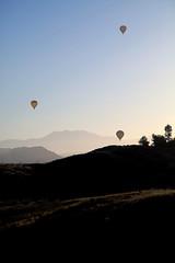 Hot air balloons over Temecula valley vineyards - Temecula California (Lucie Maru) Tags: california usa mountains hot fog sunrise balloons landscape air hills vineyards valley hotairballoons temecula