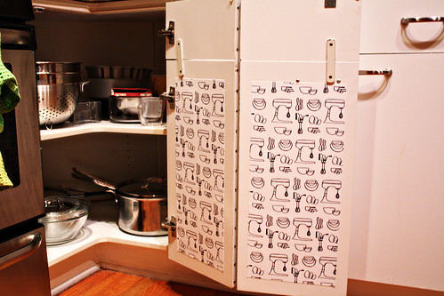 edited Mod Podge Kitchen Cabinet liners (7)