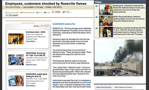 My Web Story: Community stunned by Roseville Galleria fire