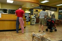Captain America at Customer Service (NONfinis) Tags: patriotism captainamerica qfc fauxpatriotism grocerystores fakepatriotism afsdxvrzoomnikkor18200mmf3556gifed falsepatriotism pseudopatriotism