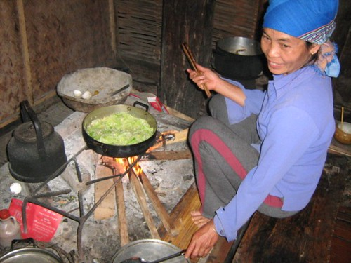 Cooking up a sotrm, Mai Chau, Hoa Binh, Vietnam