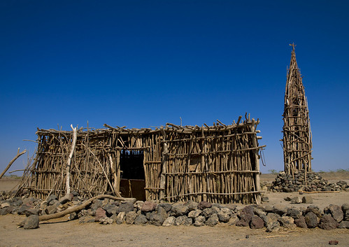 Wood mosque in Assaita area  - Danakil Ethiopia