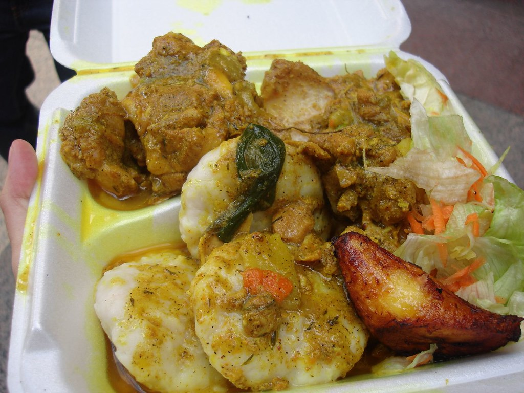 Curry Chicken w/ Dumplings - The Jamaican Dutchy, Midtown NYC