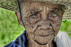 Memang (J u l i u s) Tags: old hat 50mm philippines rebelxt ricefield wrinkles pinoy 65 pilipinas palay blackheads ormoc be