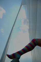 SOTTS, Road Trip Style (.tara.) Tags: woman selfportrait me interestingness arch legs you leg stlouis stripe tags explore more need stripey kneehigh 365days sotts sisterhoodofthetravelingsocks barfyheart lotsandlotsoftheminfact