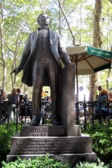 NYC: Bryant Park - Benito Juárez statue by wallyg, on Flickr