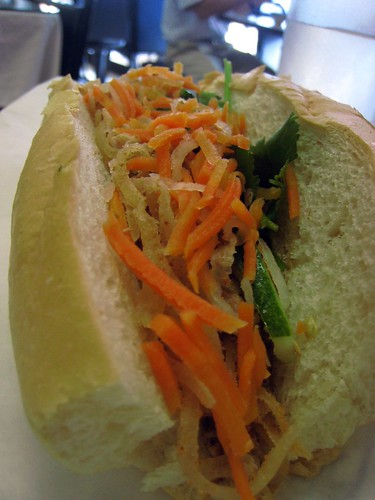 Banh Mi with shredded pork skin