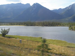 Yup...this is very similar to the scenery in some parts of the Yukon (jimbob_malone) Tags: alberta 2007 highway16 greyhoundbus