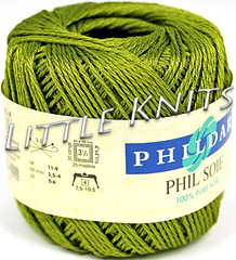 Phildar Silk - Phil Soie in a Beautiful Olive/Moss Green