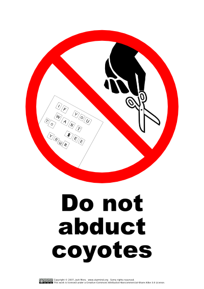 Do Not Abduct Coyotes