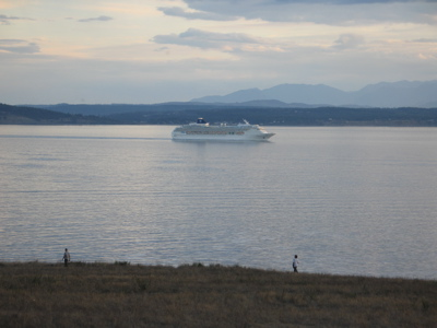 Cruise Ship Passing Whidbey Island