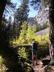 Jim on trail along Pettit Lake