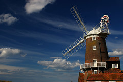 Windmill, Cley Next The Sea, Norfolk (Whipper_snapper) Tags: uk england sky cloud windmill clouds cool village norfolk explore gb cley cleynextthesea