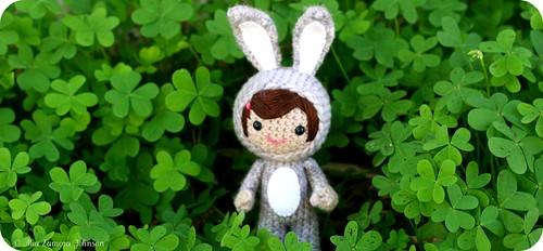 Elizabeth rabbit girl outside