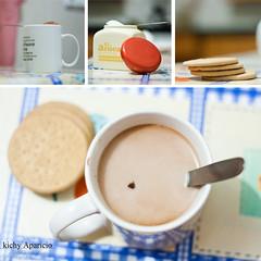 Desayuno. (Kichy Aparicio -He vuelto-) Tags: desayuno colacao cofee azucar triptico galletas nesquik 50mmf18 tazas cuchara milde aparicio kichy canoneos1000d kichyaparicio colacaofrio