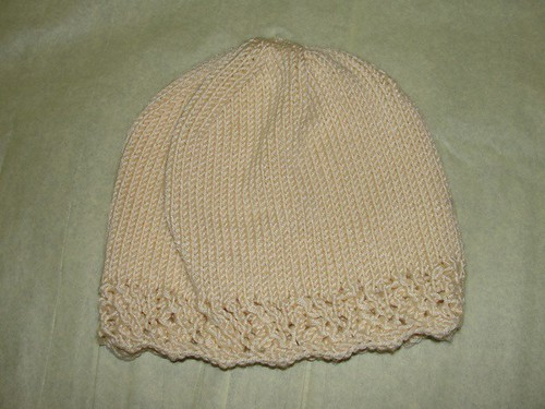 Lacy Edged Chemo Cap