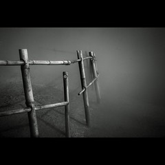 missing (Elf-Y) Tags: mist fog canon fence indonesia ir 50mm java smoke infrared 5d sulphur f18