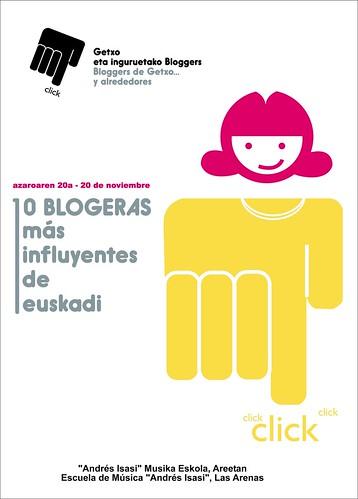Cartel del II Encuentro de Bloggers de Getxo, obra de Ana Belén Llorente
