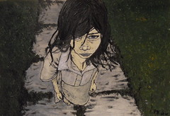 But you promised.... (kaeuflin) Tags: broken girl painting children sadness parents kid hurt eyes paint child sad faith lies lookup angry barefoot trust oil try adults promise disapointed realtionship kuflin kaeuflin