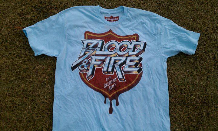 Blood and fire jumbo printing