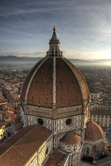 View of Florence Cathedral from Giotto's Campanile, Firenze, Italy