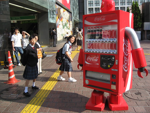 Coke vending machine robot