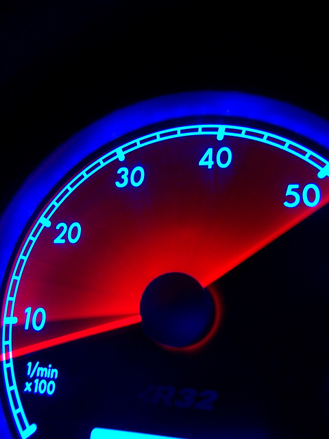 blue red vw volkswagen racing rev awd tachometer r32 vr6