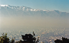Santiago, Chile (stevesheriw) Tags: chile city santiago mountains southamerica smog view pollution andes