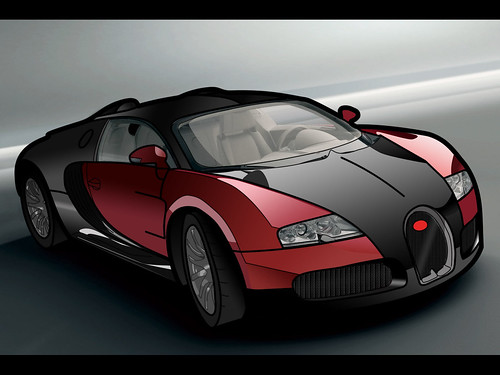 Bugatti Veyron Vector and colour in photoshop