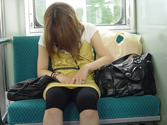 Another Japanese commuter (Shanti, shanti) Tags: japan sleep commuter
