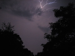 Lightning (tmac0381) Tags: trees sky clouds ga dark georgia lightning stonemountain favorited