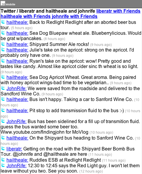 Beer Bomb Bus Tour Twitterstream