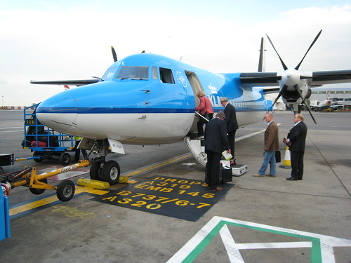 The plane that flew me from Heathrow to Rotterdam
