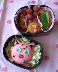 Idlipuff (Sakurako Kitsa) Tags: pink india anime funny south cartoon pokemon bento sakurako jigglypuff obento idli kitsa idlis sakurakokitsa