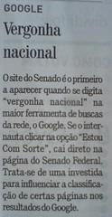 Notícia do Jornal Gazeta do Povo sobre a Vergonha Nacional
