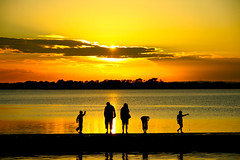 (Barry McGrath) Tags: ireland sunset sea people dublin sun water yellow canon skyscape landscape eos pier fishing malahide 30d canonefs1785mmf456is canoneos30d mywinners aplusphoto barrymcg bazzymcg excapture