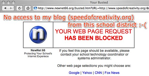 Your Busted - No access to my blog