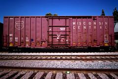 WISCONSIN CENTRAL LTD. (TRUE 2 DEATH) Tags: railroad train logo rust traintracks rusty trains railcar rusted weathered railfan freight herald freighttrain wisconsincentral benching wisconsincentralltd blankboxcar wc27718 unpaintedtrain unpaintedrailcar unpaintedfreight