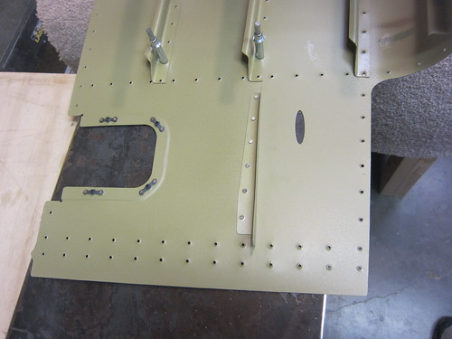 Rudder Stop Skin Stiffeners Back Riveted