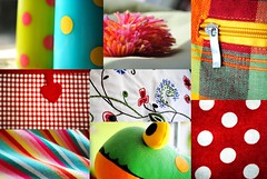 The simple things (Kyrivia) Tags: red orange green colors smile collage happy colorful candle stripes stripe fluffy things polka frog stuff zipper dots simple