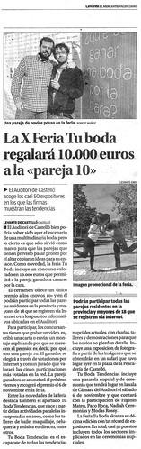 101017 Levante - La X Feria Tu boda regalará 10.000 euros a la 'pareja 10'