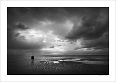 Blackpool Beach (Mike. Spriggs) Tags: sea beach photography coast seaside dusk shore blackpool nwenglandlandscape