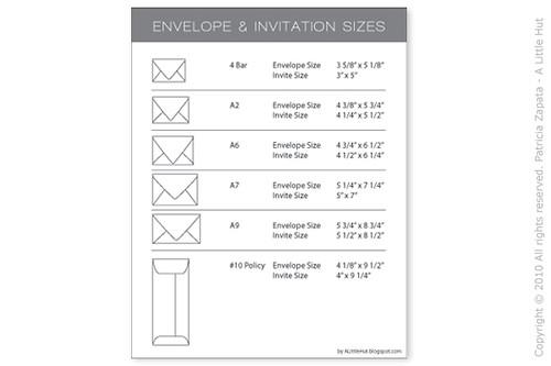 a little hut patricia zapata the basics envelope sizes