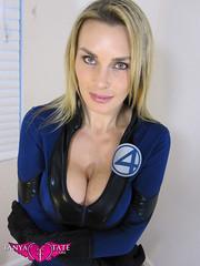 Tanya Tate as The Invisible Woman 001 (MonstarPR) Tags: sexy cosplay blonde superhero cleavage marvel fantasticfour invisiblewoman susanstorm tanyatate