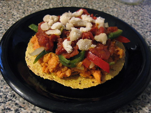 Spicy Sweet Potato Tostada