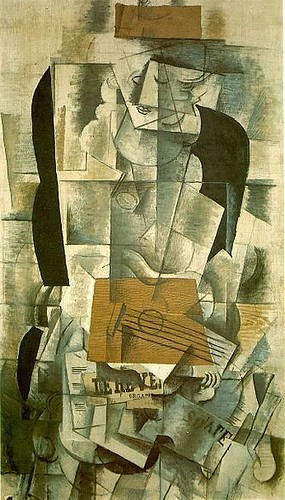Braque, Georges (1882-1963) - 1913 Woman with a Guitar (National Museum of Modern Art, Centre Georges Pompidou, Paris, France)