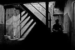 dark basement (eb78) Tags: blackandwhite bw selfportrait abandoned me monochrome contrast self dark blackwhite scary darkness noiretblanc pentax urbandecay explorer basement minneapolis haunted creepy explore mpls forgotten urbanexploration infiltration twincities grayscale forsaken timer istds ue greyscale pentaxistds urbex autotimer blancnoir urbanexplorer abandonedtwincities twincitiesurbanexploration