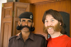 DSC_2540.jpg (dogseat) Tags: india me beard soldier brothers agra moustache whiskers separatedatbirth curl mustache beret burners dogseat beardo muttonchops basettoni sidewhiskers beardos flickr:user=dogseat